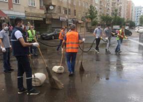 Sakarya Caddesi dezenfekte edildi