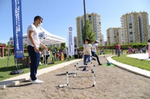Çocuklar için spor etkinliği düzenlendi