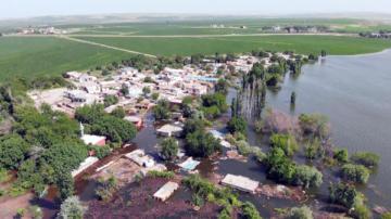 VİDEO HABER – Yükselen sular Bismil'in köylerine ulaştı