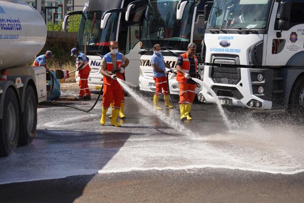 Otogar'da temizlik çalışması başlatıldı