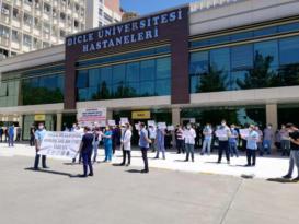 Ek ödeme protestosu: Sağlık ekip işidir