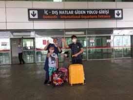 Emir ve ailesi tedavi için İstanbul'a gitti