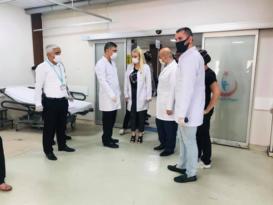 Selahaddin Eyyubi Devlet Hastanesinde korona virüs denetimi