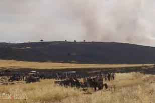 VİDEO HABER – Çınar'da 200 dönüm ekili alan yandı