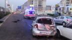 Kadın sürücü başka araç tarafından sıkıştırıldı: 2 yaralı