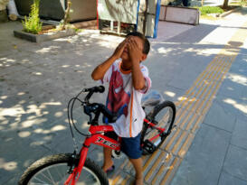 Bisiklet hayali gerçekleştirildi