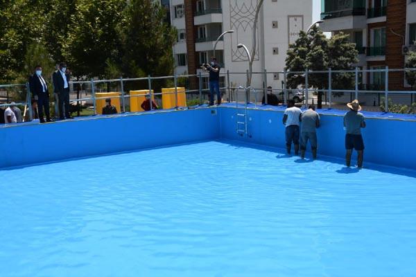 Bağlar'da çocuklar için estetik yüzme havuzu!