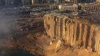 Beyrut'taki yıkım havadan görüntülendi