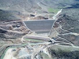 Çermik Kale Barajında çalışmalar sürüyor