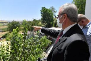 Vali Karaloğlu Gazi Köşkü'nde incelemelerde bulundu