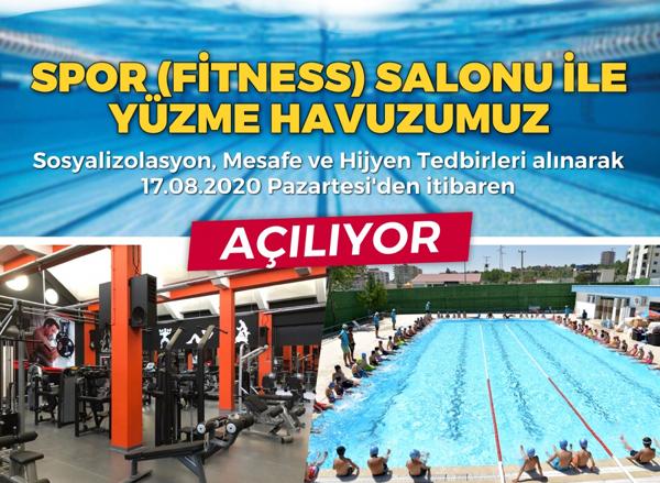 Büyükşehir'in yüzme havuzu ve spor salonları yeniden hizmette