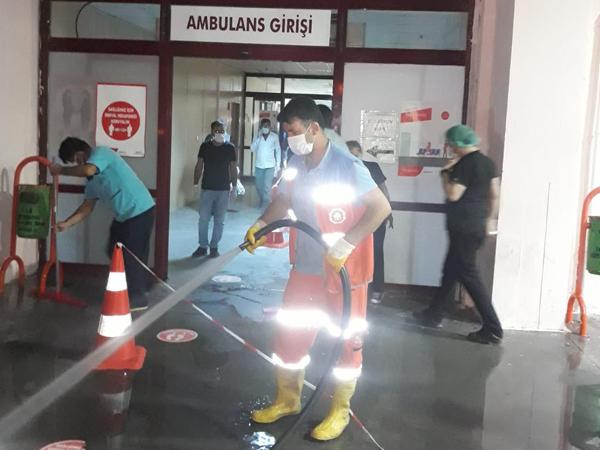 Diyarbakır'da dezanfektan çalışması!