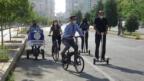 Kaymakam Beşikçi belediye binasına bisikletle geldi!