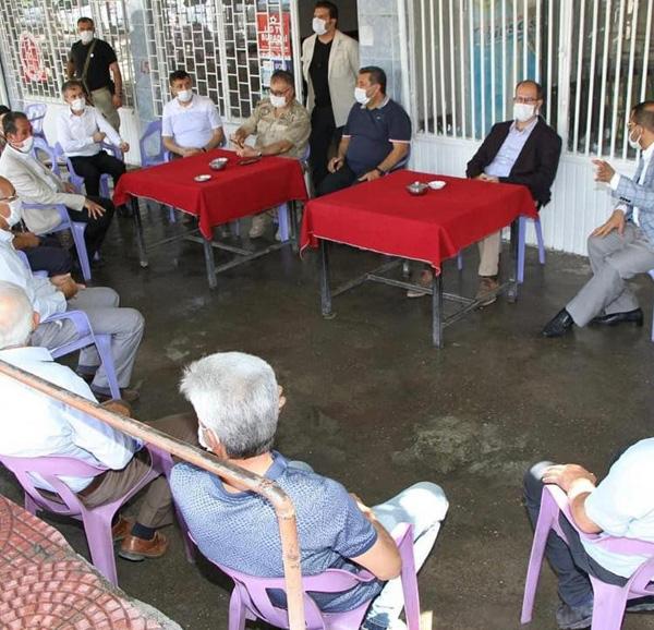 Kaymakam ve Belediye Başkanı Türkmen köylülerle bir araya geldi