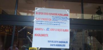 Sur'da korona tedbirlerine uymayan iş yerlerine ceza