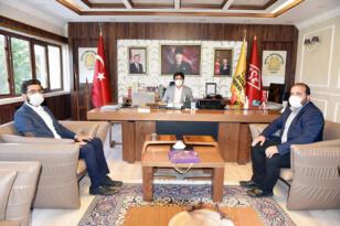 Yeniden Refah Partisi'den Rektör Karakoç'a ziyaret