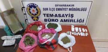 Sur'da uyuşturucuya geçit yok: 2 kişi gözaltı
